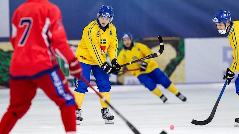 Erik Pettersson i landslagströjan.