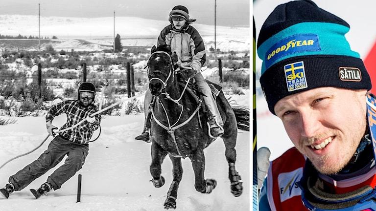 Skicrossstjärnan Victor Öhling Norberg testar skijoring under alpina VM.