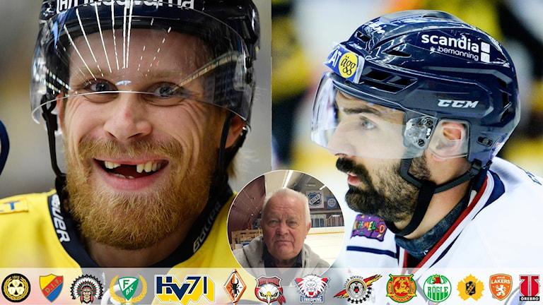 Collage L-G Janssons största SHL-profiler. Foto: TT, collage SR