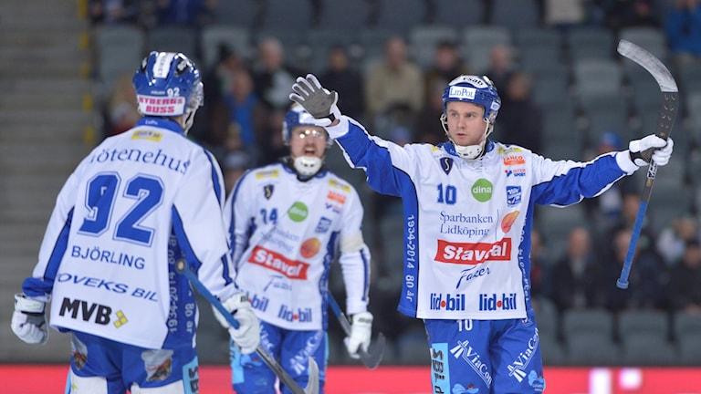 Villa Lidköpings David Karlsson i en match mot Hammarby.