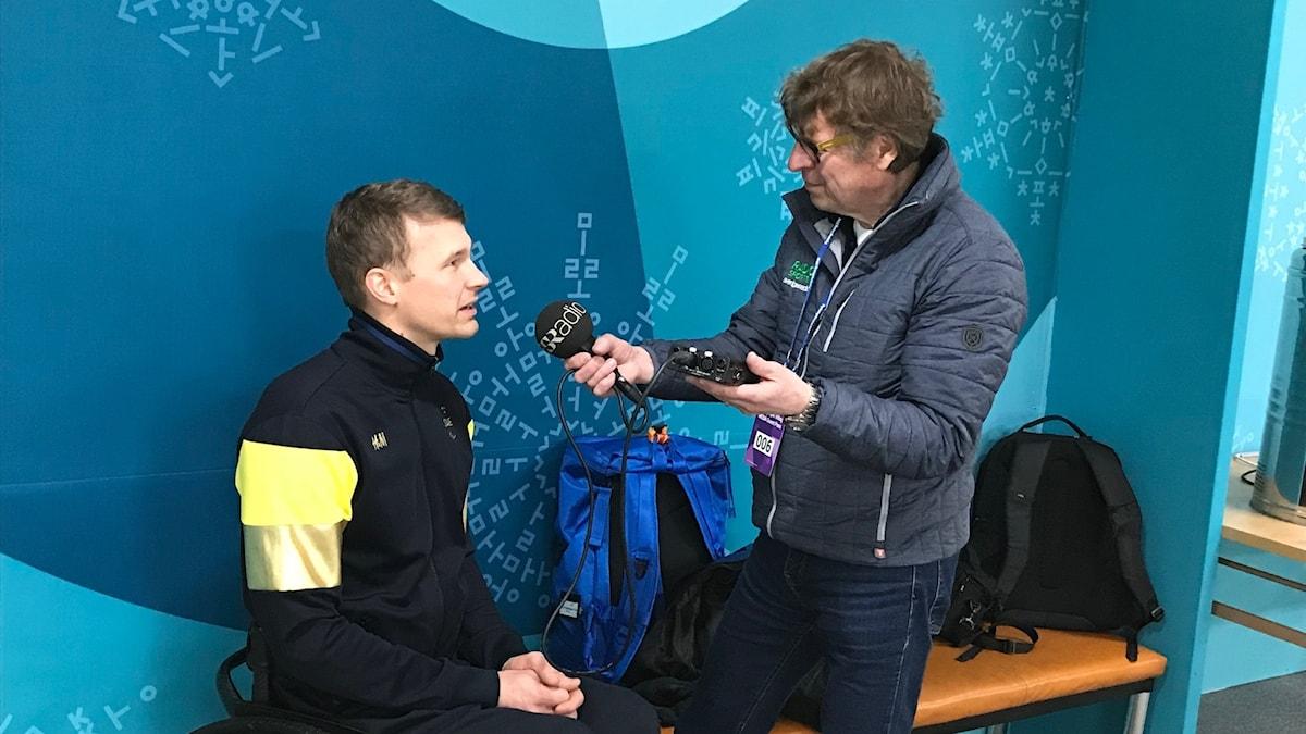 Paralympics 2018 skippern Viljo Pettersson Dahl och Roger Burman. Foto: Per Kahl/Sveriges Radio