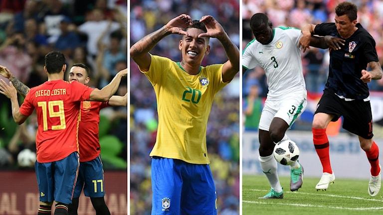 Kan månne Brasilien, Senegal, Kroatien och Spanien ta sig vidare från sina grupper?