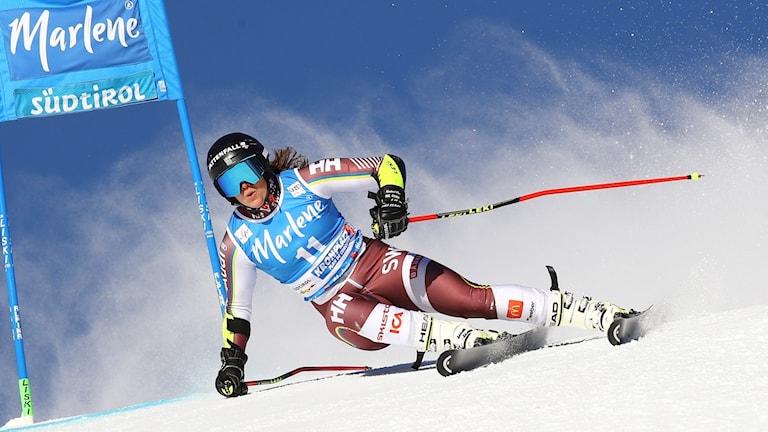 Sara Hector ligger bäst till av svenskorna inför det andra åket.