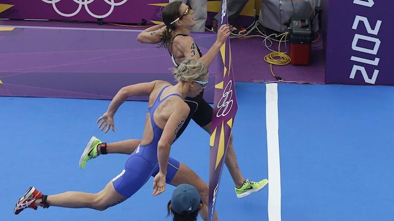 Triathlon Lisa Nordén och Nicola Spirig OS 2012