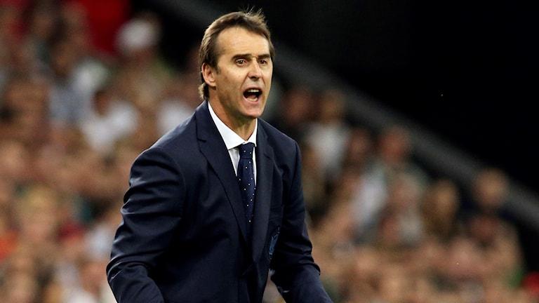 Julen Lopetegui har fått sparken från jobbet som Spaniens förbundskapten.