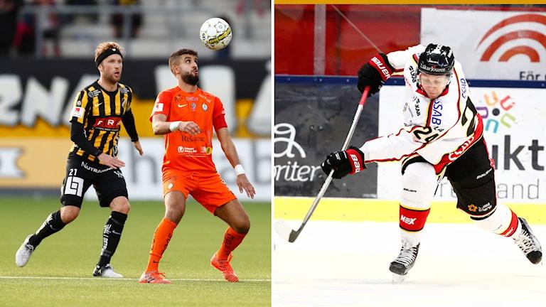 Fotboll och ishockey i lördagens Sportextra.