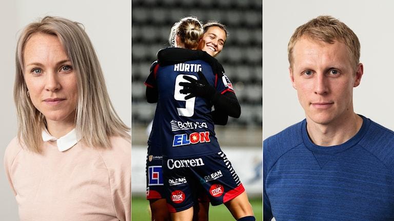 Radiosportens experter Johanna Frisk och Richard Henriksson.