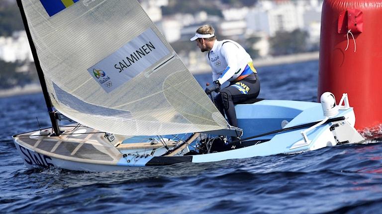 Max Salminen slutade sexa i onsdagens båda race.