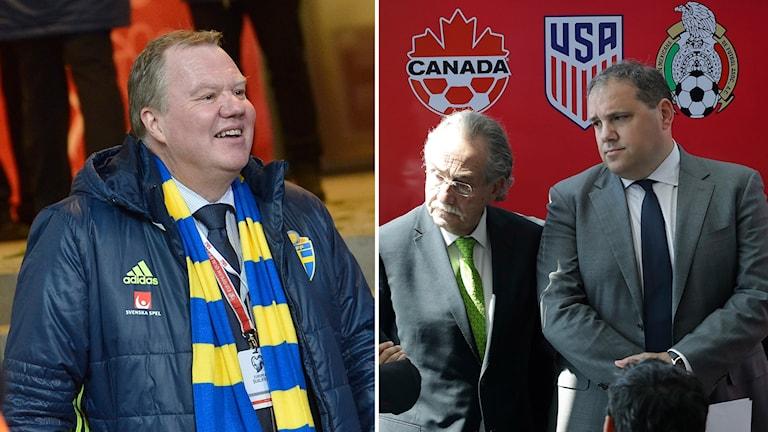 Karl-Erik Nilsson tillsammans med kollegorna i Mexiko och Kanada.