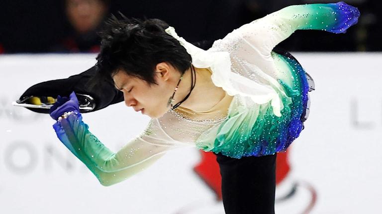 Japanen Yuzuru Hanyu vann OS-guld 2014.