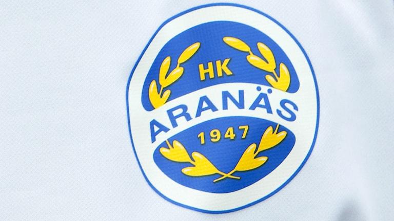 2012 Aranäs, klubbmärke. Foto: Scanpix