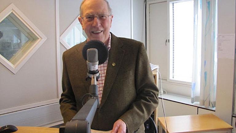 Uno Hedin i Radiosportens studio. Foto: Martin Hedberg/Sveriges Radio
