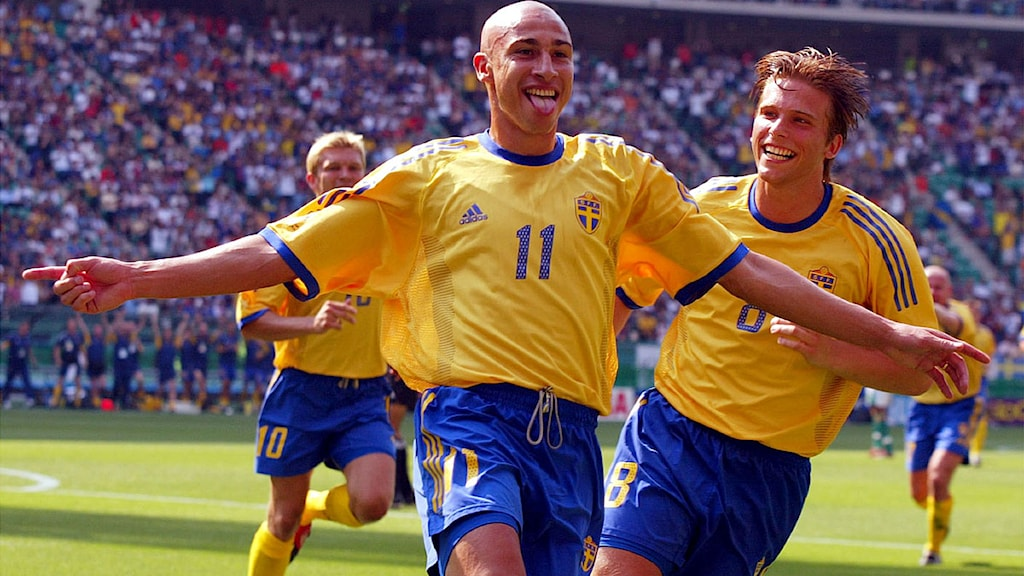 VM 2002 Fotbollslandslagets Henrik Larsson. Foto: Lionel Cironneau/Scanpix
