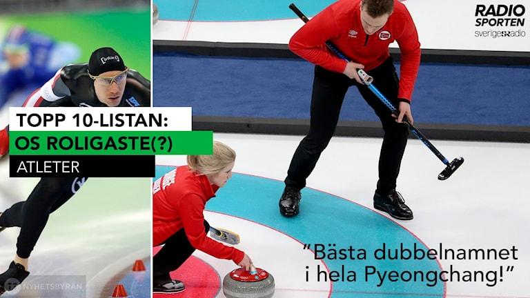 Topp 10-listan: Vinter-OS roligaste atleter. Foton: TT. Collage: SR.