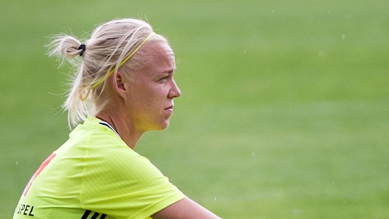 Caroline Seger kan komma att missa EM-kvalet mot Moldavien.