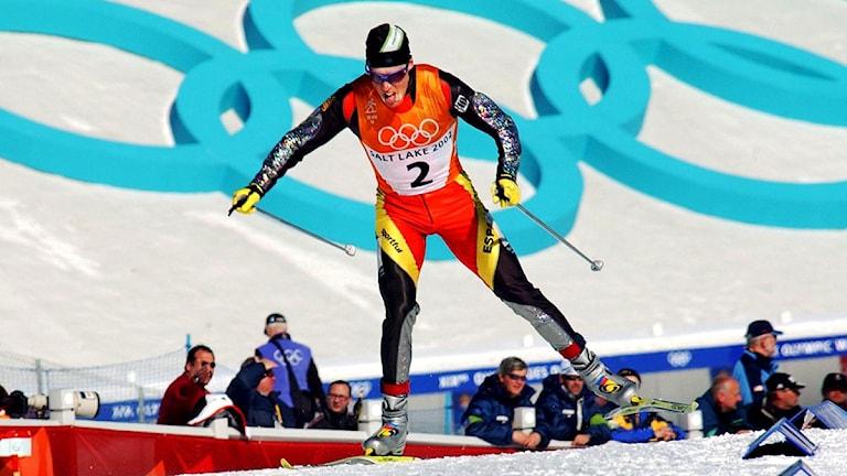 Johann Mühlegg under OS i Salt Lake City 2002. Arkivfoto: Scanpix
