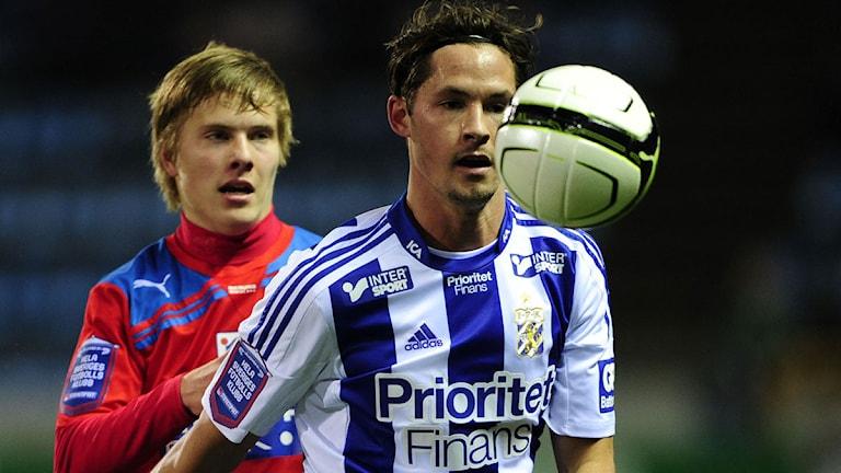 2012 Peter Larsson, Helsingborg, Philip Haglund, IFK Göteborg. Foto: Scanpix