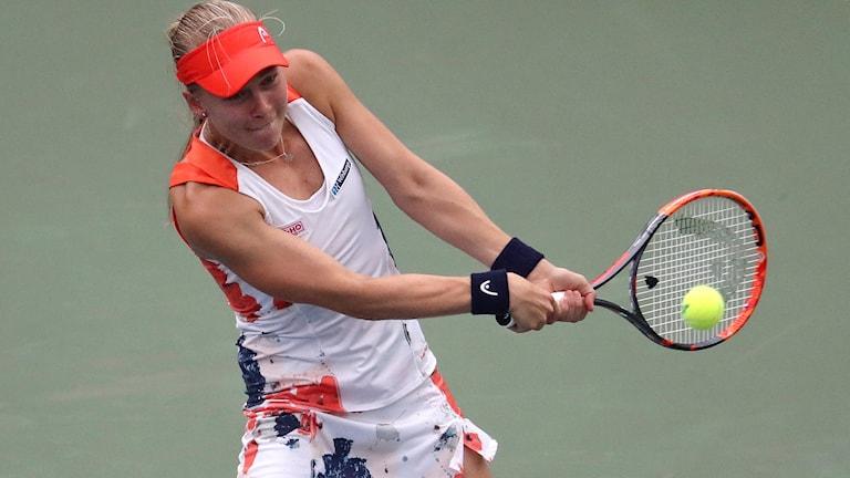 Johanna Larsson är vidare i WTA-turneringen i Luxemburg.