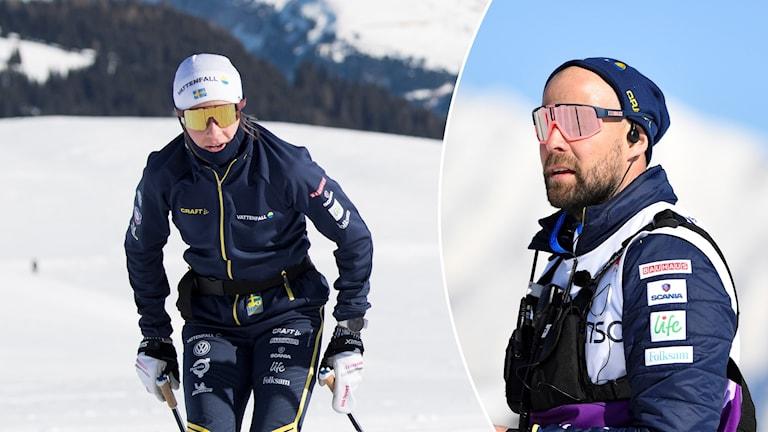 Ebba Andersson (tv) och Rikard Grip.
