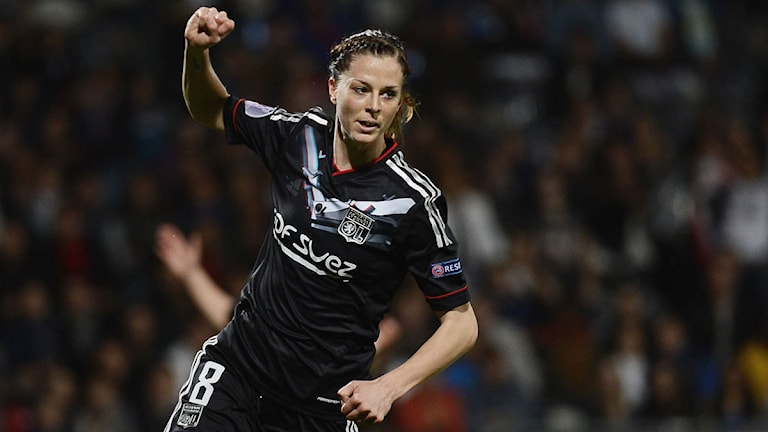 2013 Lotta Schelin, Lyon. Foto: AFP PHOTO / JEFF PACHOUD