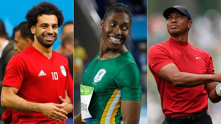 Mohamed Salah, Caster Semenya och Tiger Woods