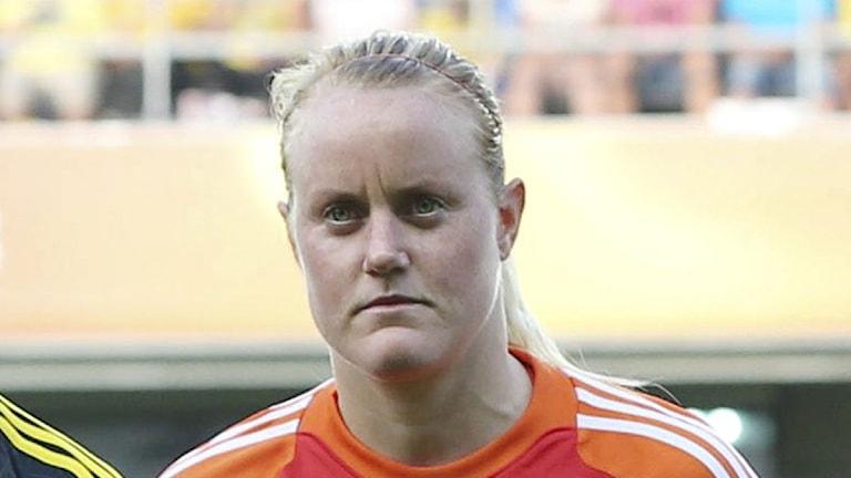 2013, fotboll, Sverige.Tyskland, Kristin Hammarström.
