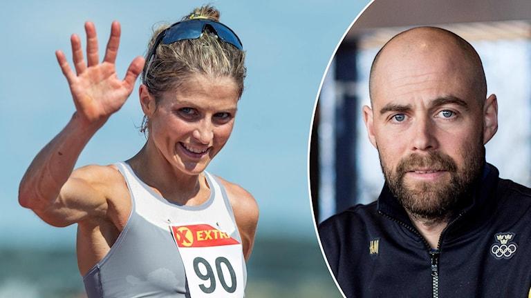 Therese Johaug och Rikard Grip