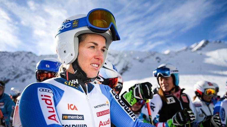 Maria Pietilä Holmner under träning i Sölden, Österrike.