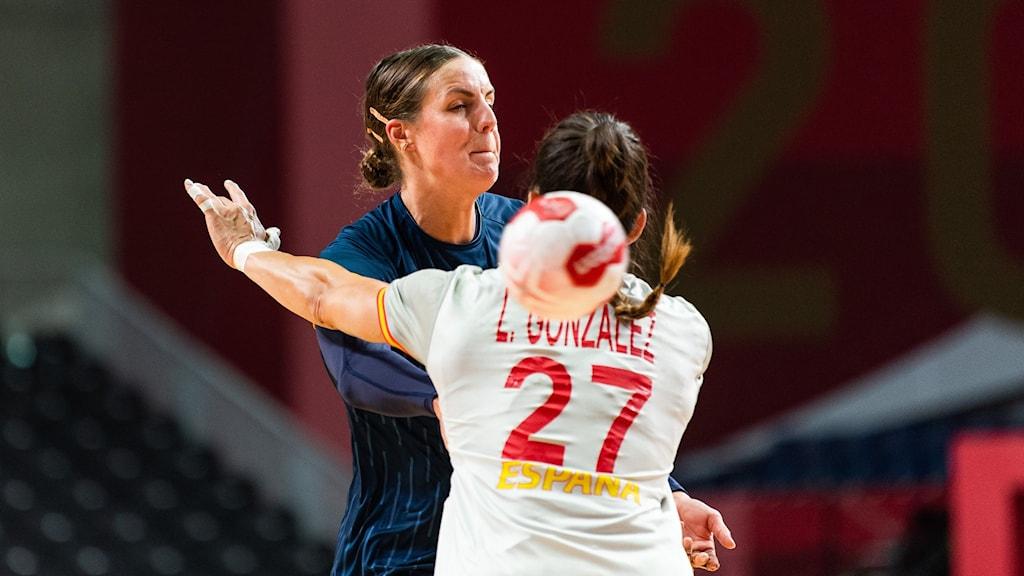 Handbollslandslaget Carin Strömberg OS 2021. Foto: CARL SANDIN/Bildbyrån