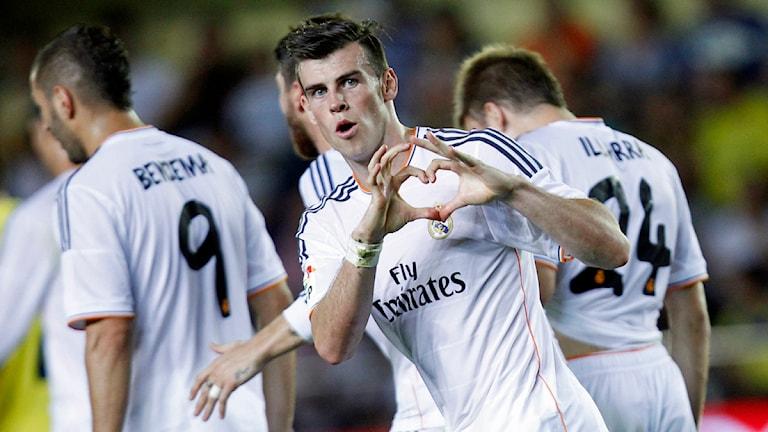 Världens dyraste spelare, Gareth Bale, gjorde mål i sin premiärmatch för Real Madrid. Foto: Alberto Saiz, AP