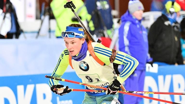 Talangen Hanna Öberg världscupdebuterade i Östersund.