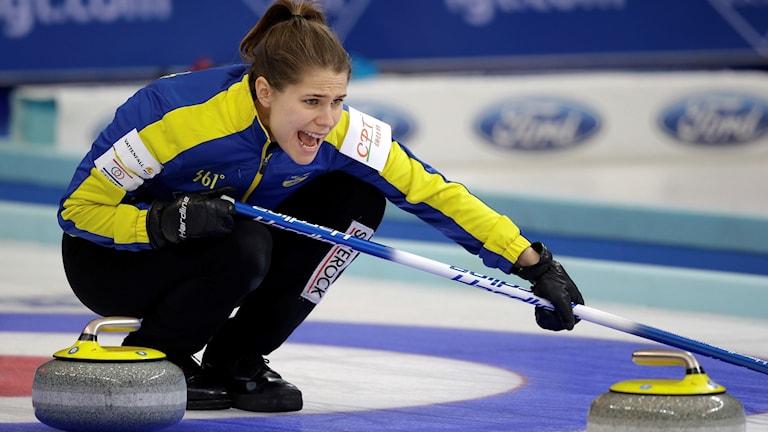Anna Hasselborg under VM i Peking.