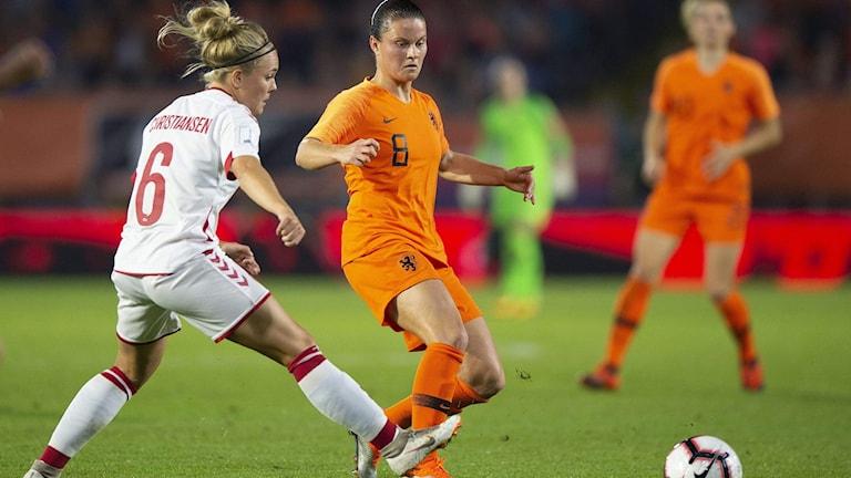 Nederländernas Sherida Spitse mot Danmarks Nanna Christiansen