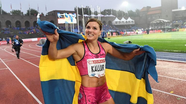 Susanna Kallur efter comebacken på Stadion.