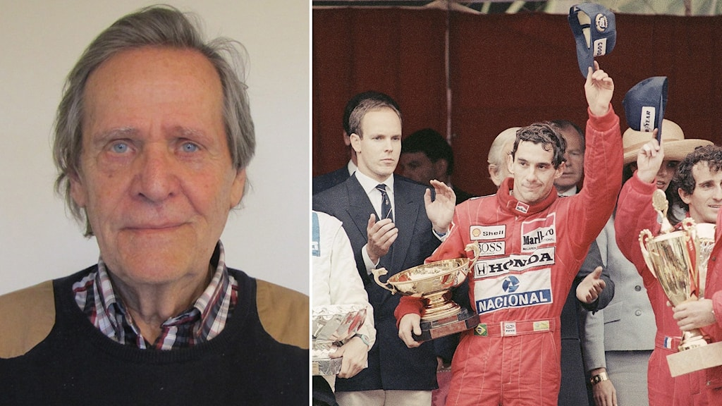 Fredrik af Petersens (tv) och Ayrton Senna.
