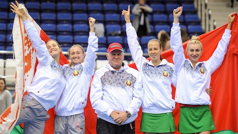 Vitryska Fed Cup-laget som tog sig till final.