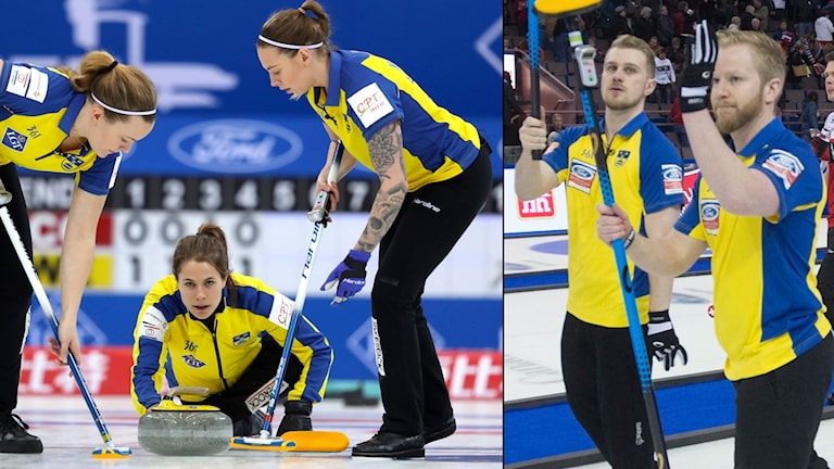 Både damernas och herrarnas världsranking i curling toppas av svenska lag.