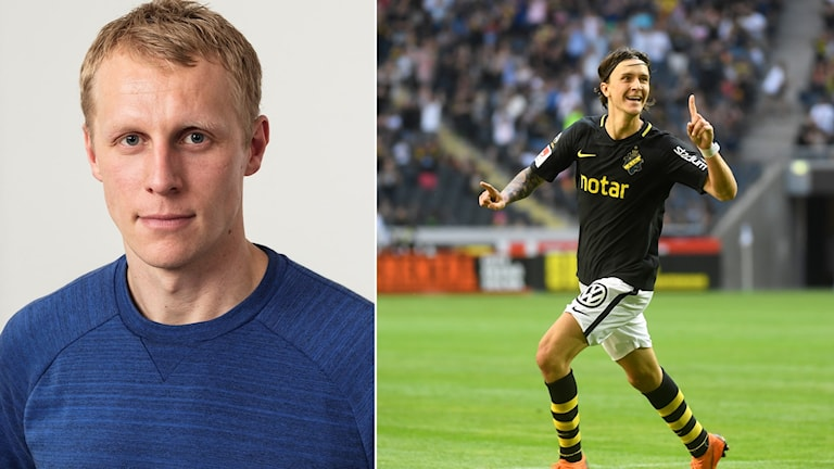 Radiosportens expert Richard Henriksson (t.v.) och Kristoffer Olsson.