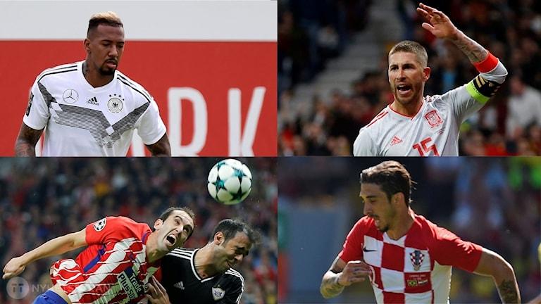Collage VM:s bästa backar. Foto: TT, collage SR