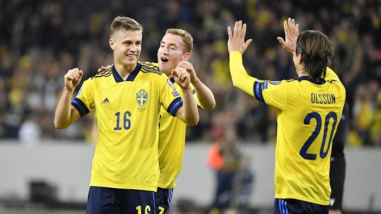 Mattias Svanberg målskytt i A-landslagsdebuten.