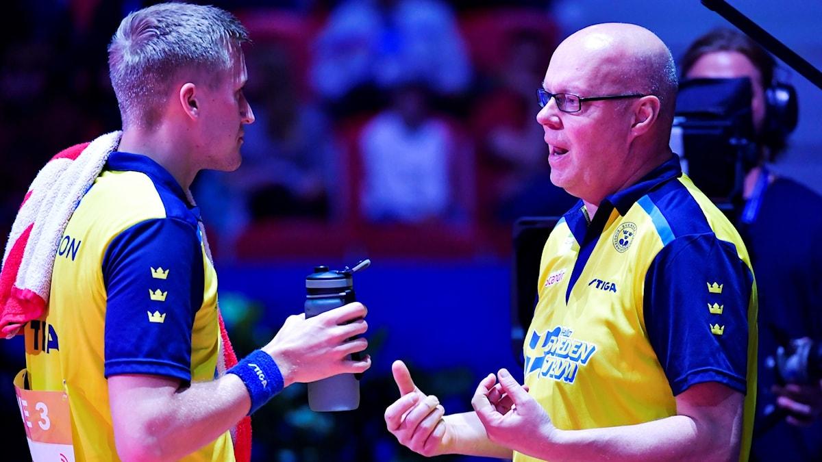 """Mattias Falck coachades förut av Ulf """"TIckan"""" Carlsson."""