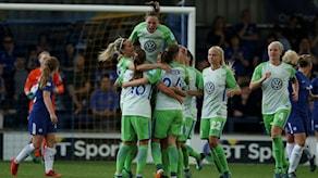 Nilla Fischers (höger) Wolfsburg är nära Champions League-final.