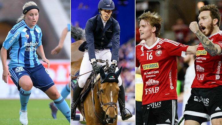 Djurgården, Henrik von Eckermann och Storvreta kommer samtliga att höras i dagens Sportextra.