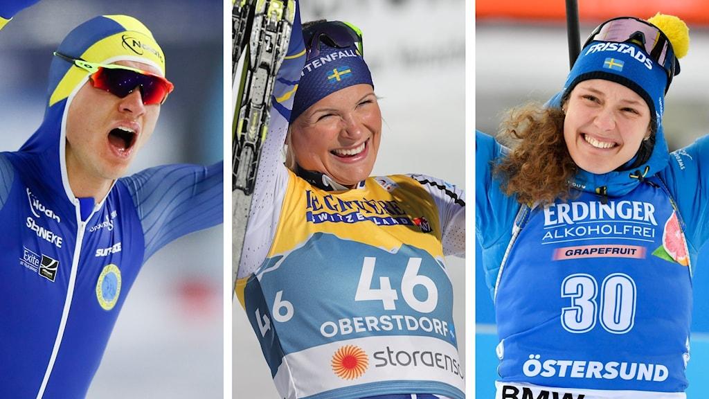 Nils van der Poel, Frida Karlsson och Hanna Öberg