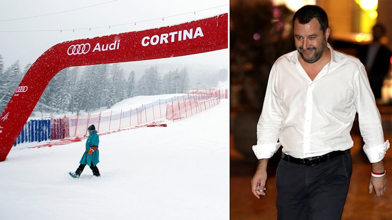 Italiens inrikesminister Matteo Salvini lovar att regeringen kommer att gå in med pengar i Milano-Cortinas OS-ansökan.