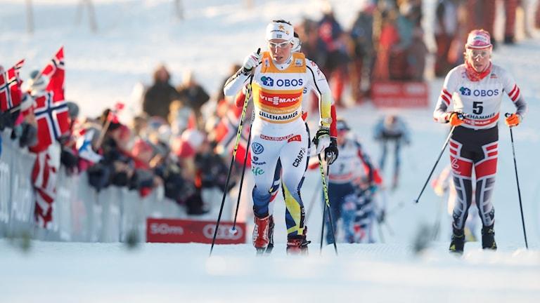 Charlotte Kalla visade fin form i Lillehammer.