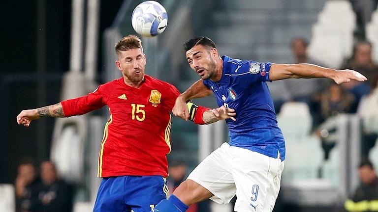 Spanien och Italien.