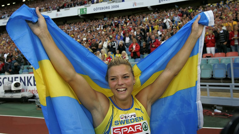 GÖTEBORG 20060811 : 110m häck, Susanna Kallur to guld i korta häcken Foto: Niklas Larsson/TT