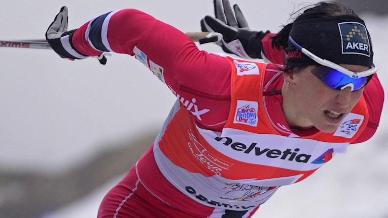 Marit Björgen, Norge. Foto: Robert Michael/TT.