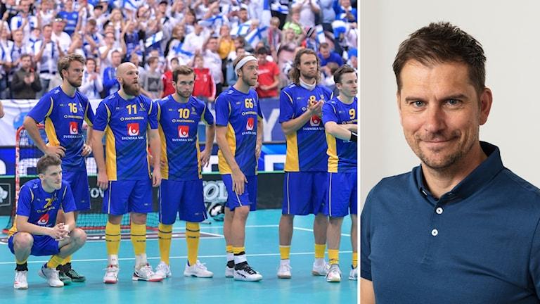 Sveriges innebandyherrar och Peter Ahnberg.